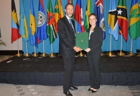 Minister of Foreign Affairs and Foreign Trade deposited Jamaica's Instrument of Ratification