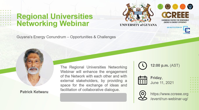 RUN Webinar presented by the University of Guyana
